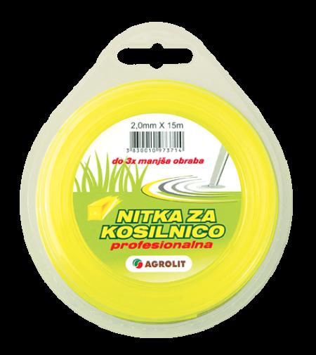 NITKA ZA KOSILNICE 2 MM X 15 M (PRO)- KVADRAT - AGROLIT