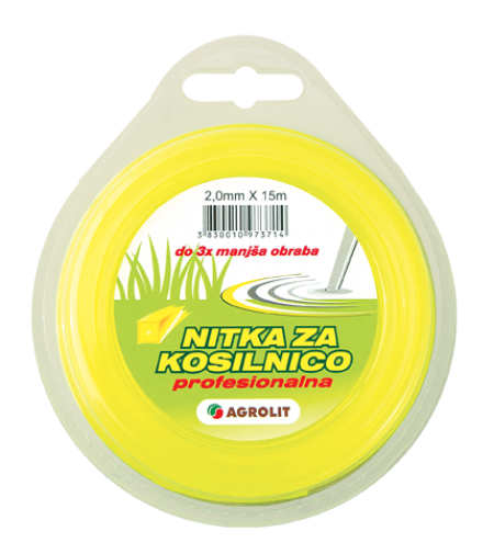 NITKA ZA KOSILNICE 2 MM X 15 M (PRO)- OKROGLA - AGROLIT
