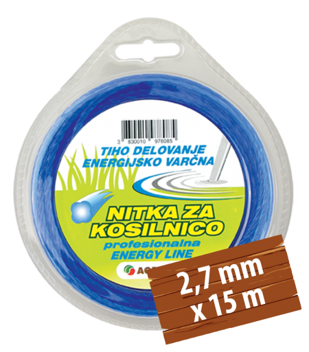 NITKA ZA KOSILNICO TWIST DETELJICA 2,7 MM X 15 M AGROLIT