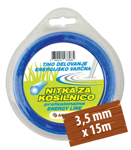 NITKA ZA KOSILNICO TWIST DETELJICA 3,5 MM X 15 M AGROLIT