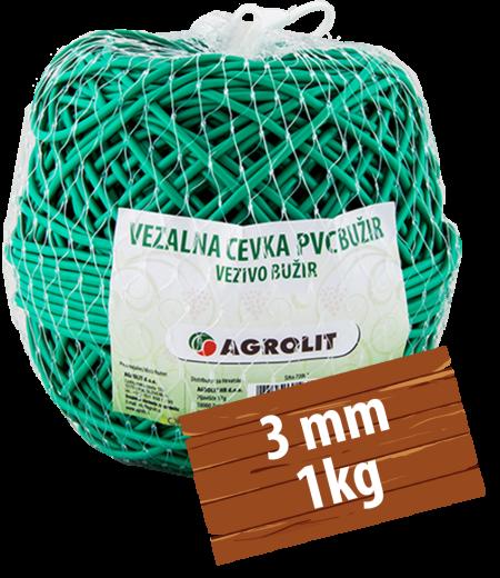 VEZALNA CEVKA PVC BUŽIR 3MM 1KG - AGROLIT
