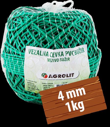 VEZALNA CEVKA PVC BUŽIR 4MM 1KG - AGROLIT