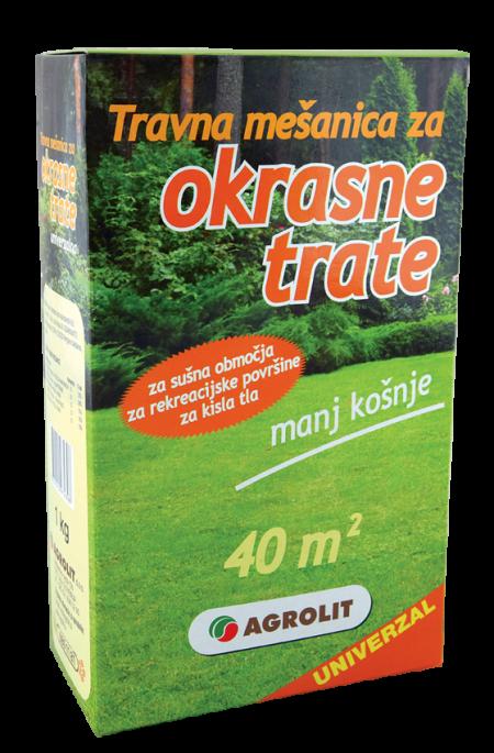 TRAVNA MEŠANICA ZA OKRASNE TRATE, UNIVERZALNA 1 KG - AGROLIT