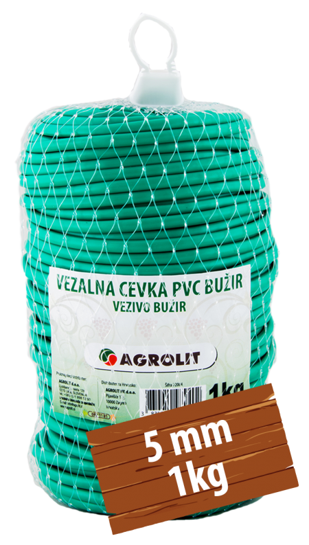 VEZALNA CEVKA PVC BUŽIR 5MM 1KG - AGROLIT