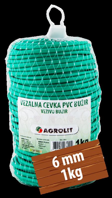 VEZALNA CEVKA PVC BUŽIR 6MM 1KG - AGROLIT