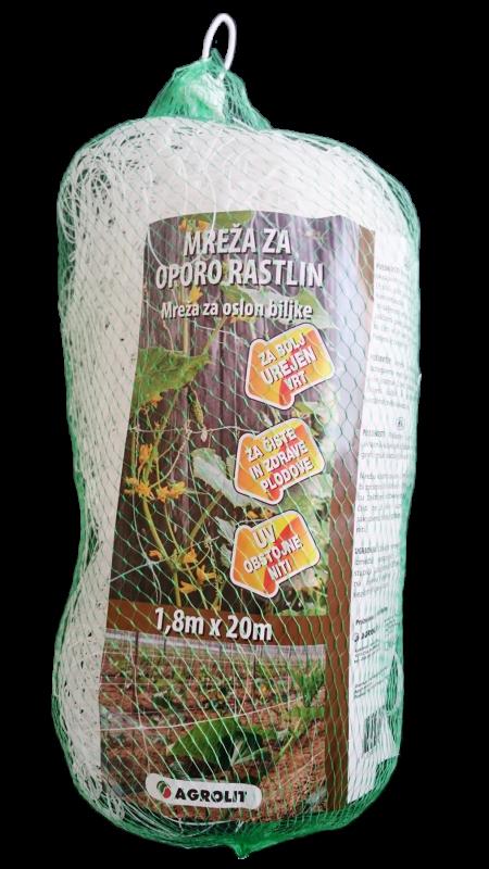 MREŽA ZA OPORO RASTLIN 1,8M X 20M - AGROLIT