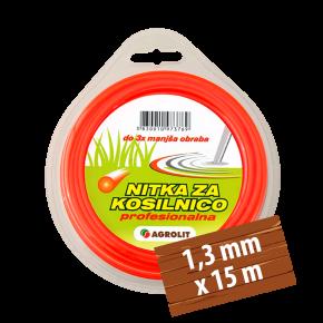 NITKA ZA KOSILNICE 1,3 MM X 15 M (PRO)- OKROGLA - AGROLIT